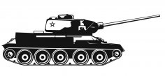 Army Tank Vector CDR File