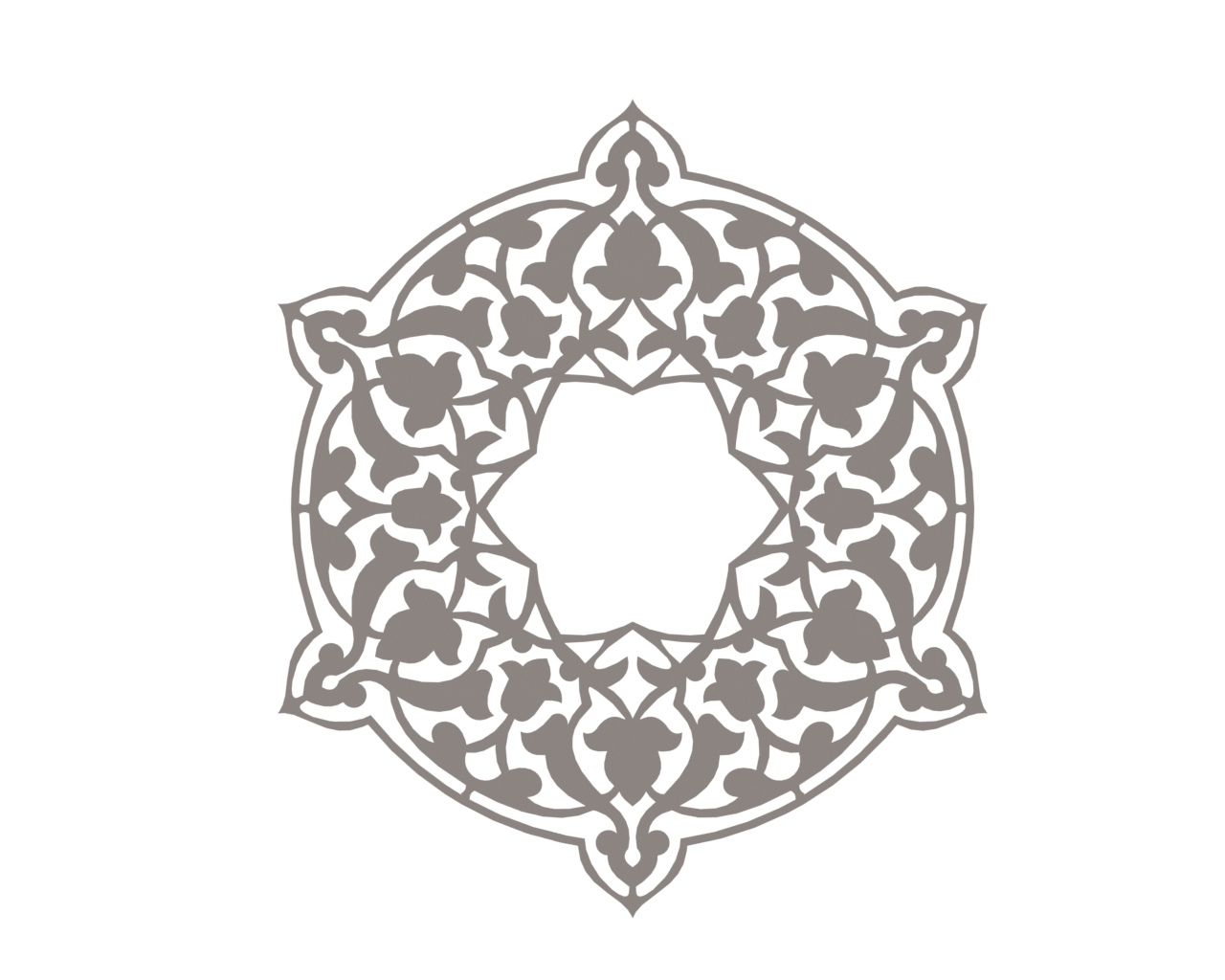 Circular Pattern In The Form Of A Mandala CDR File