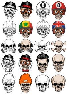 Vectors Skull In Cap Free Vector