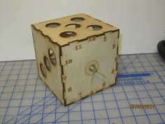 Dice Clock 5 Inch CDR File