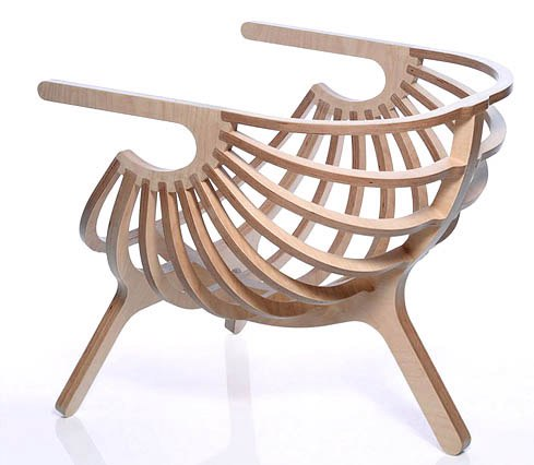 kreslo-rakushka Elegant chair plan for CNC Free Vector