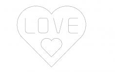 Love single line dxf File
