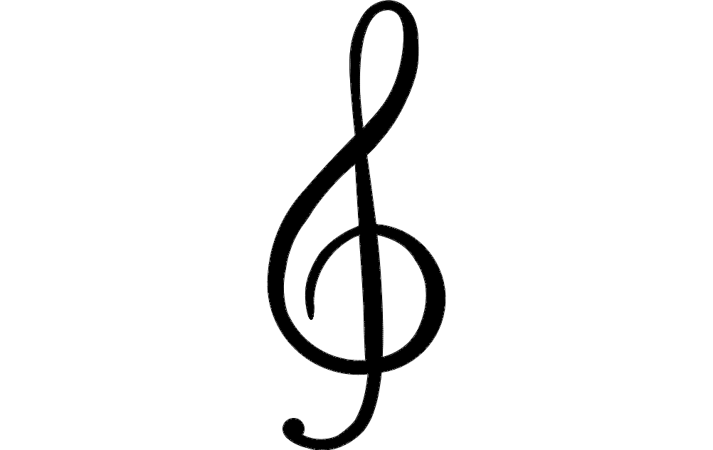 Treble Clef dxf File