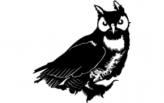 Owl Vector dxf File