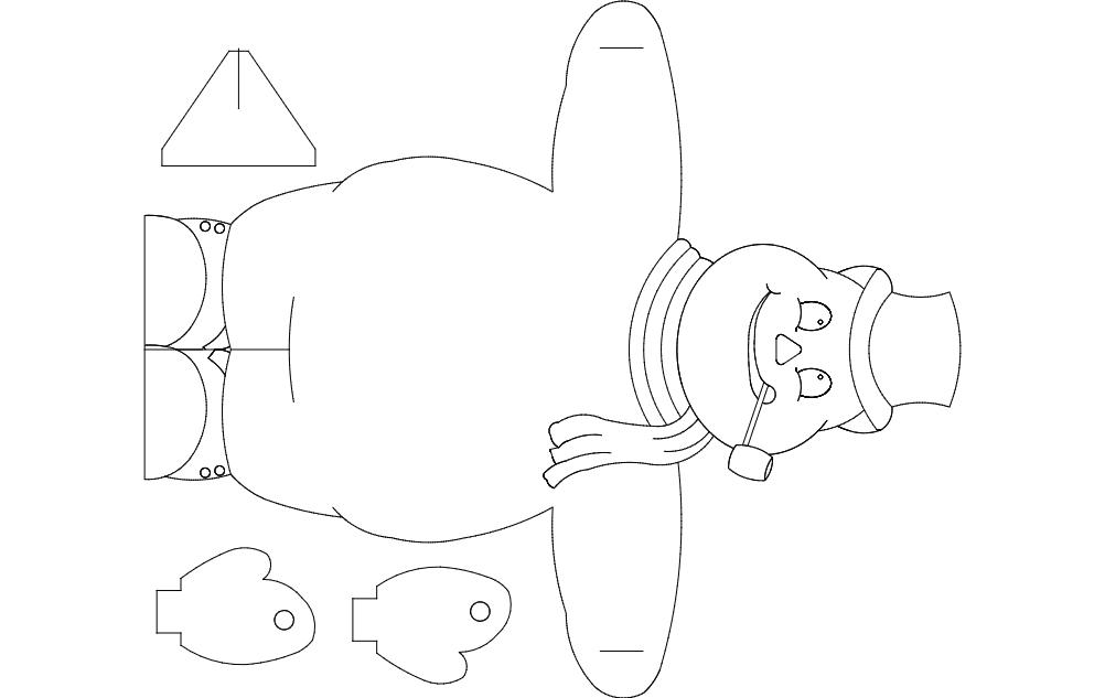 Snowman dxf File
