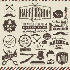 Barbershop Vector Design CDR File