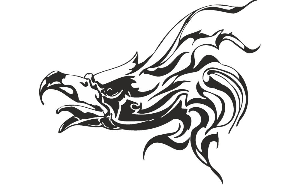 Vector illustration of Eagle head Free Vector