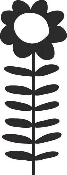 Sunflower symbol dxf File