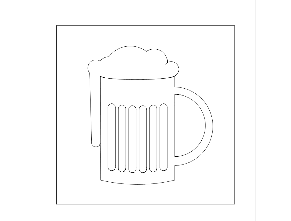 Frothy Beer dxf File