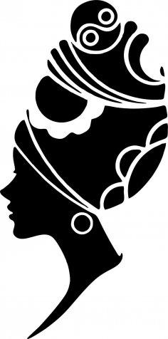 Woman Face Silhouette Vector Art jpg Image