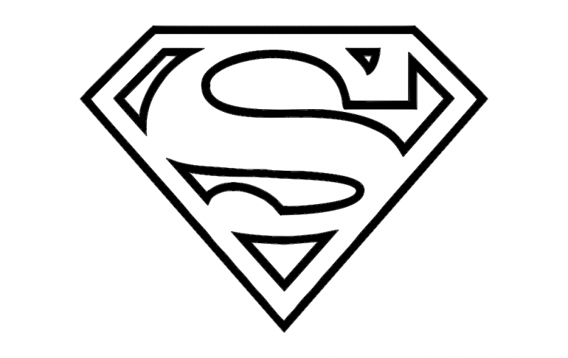 Super Man logo dxf File