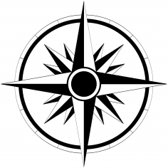 Wind Rose Sticker Vector