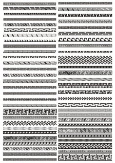 Greek border vector pattern Free Vector