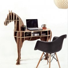 Horse Shaped Bookshelf DXF File
