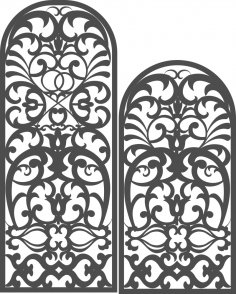 Arch Screen Pattern DXF File