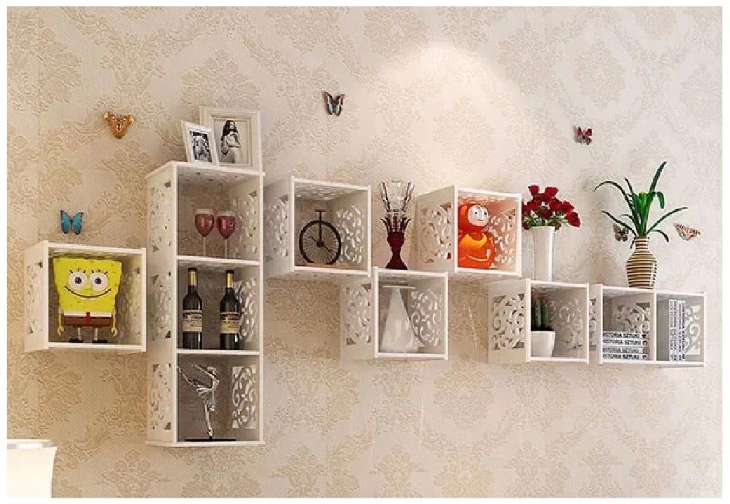 Laser Cut Wall Shelf TV Cabinet Living Room Free Vector