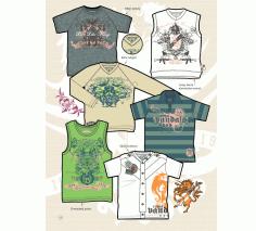 Graphics Emblem Set for T-Shirt Design Free Vector