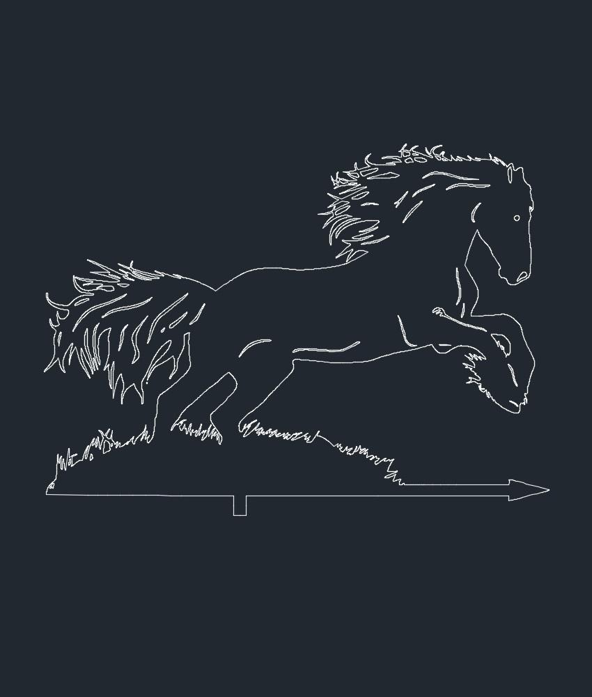 Horse Weathervane DXF File