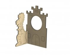 Laser Cut Photo Frame With Dragon Free Vector