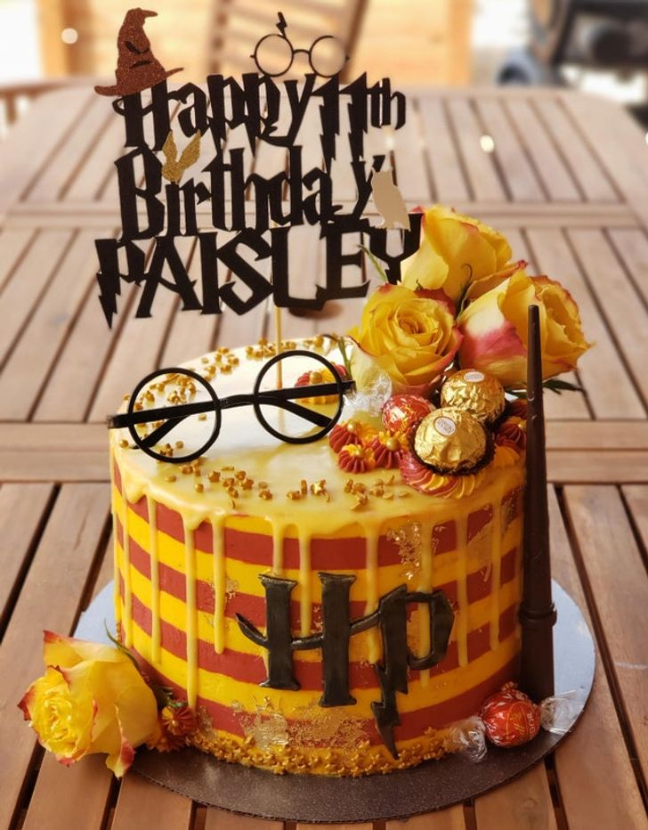 Laser Cut Harry Potter Cake Topper Personalized Birthday Topper Free Vector