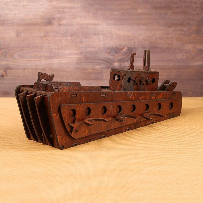 Laser Cut Mini Bar Wooden Ship Free Vector