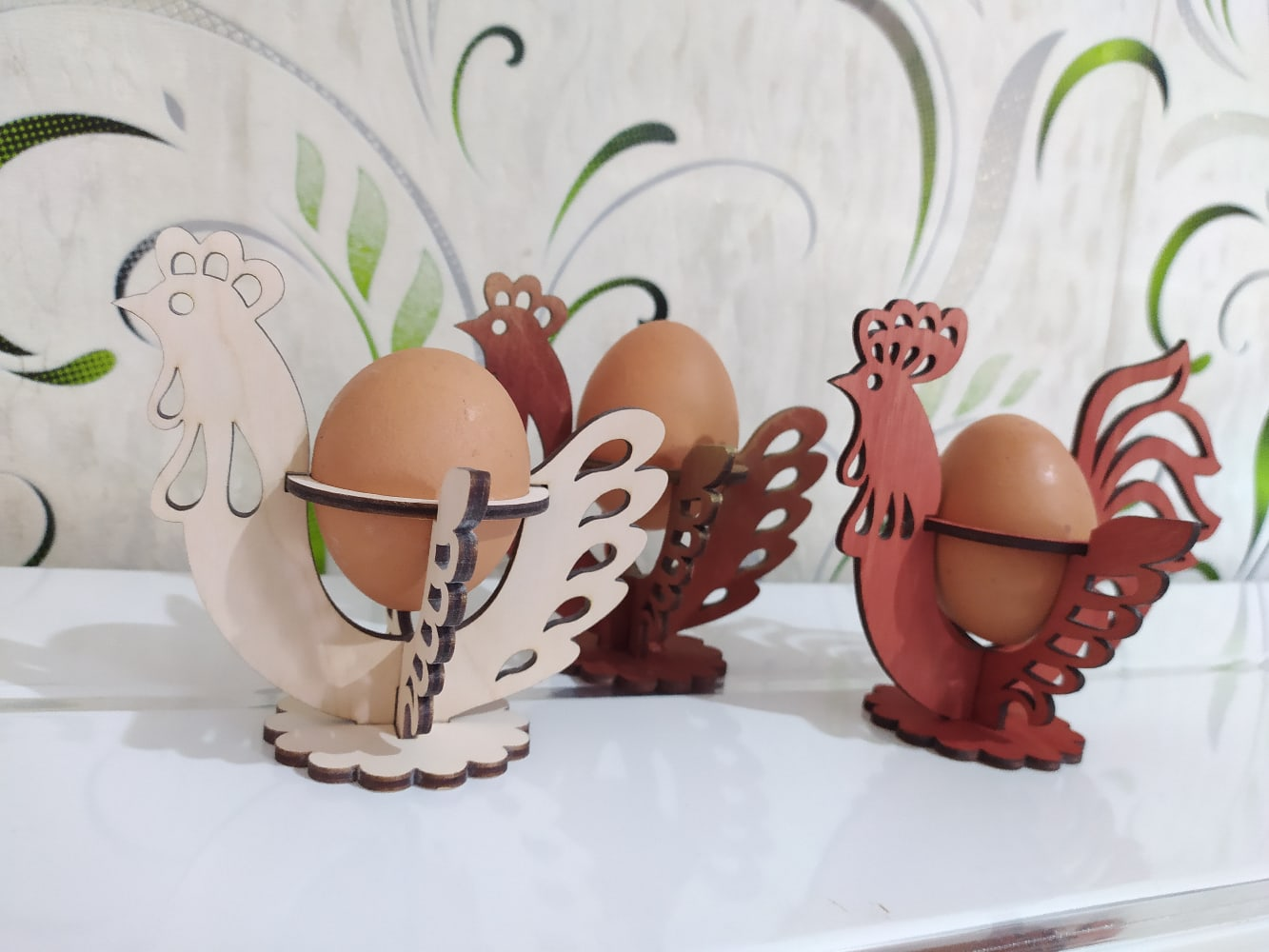 Laser Cut Decorative Easter Egg Holder Free Vector