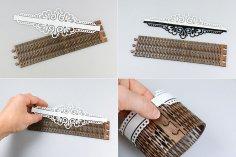 Laser Cut Wedding Napkin Rings PDF File