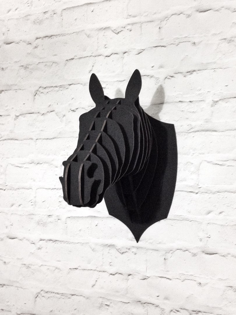 Laser Cut Horse Trophy Head Free Vector