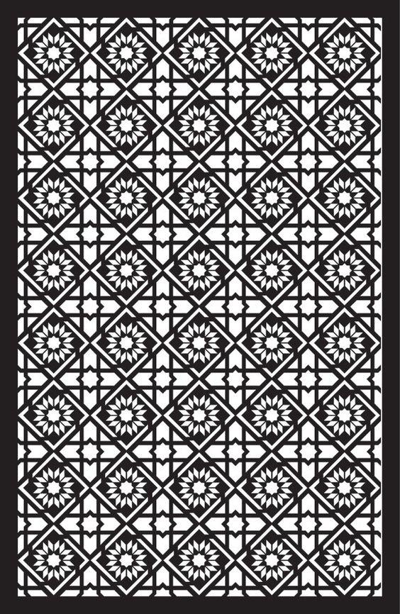 Laser Cut Floral Separator Pattern Template SVG File