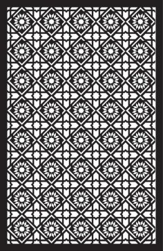 Laser Cut Floral Separator Pattern Template SVG File