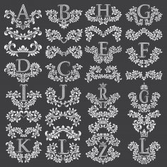 Decorative Fancy Letters Free Vector