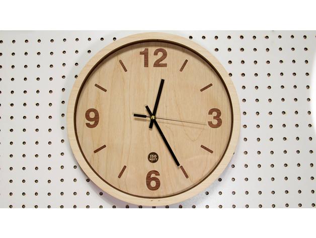 Wooden Clock Laser Cut DXF File