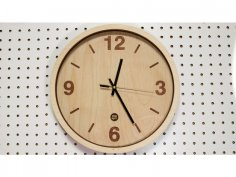 Wooden Clock Laser Cut DXF File