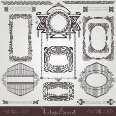 Old Banner Vintage Label Art Nouvea Frame Free Vector