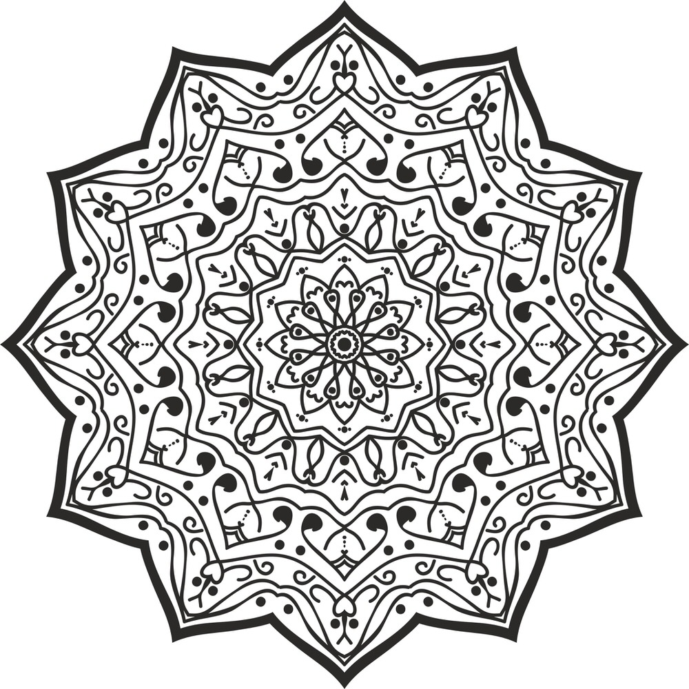 Luxury Mandala Design Free Vector
