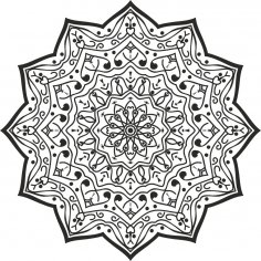 Luxury Mandala Design Free Vector