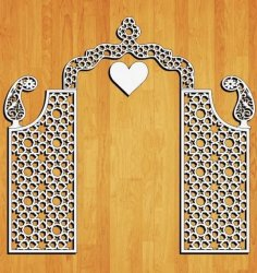Laser Cut Decorative Wedding Screen Free Vector