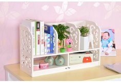Laser Cut Multifunction Desktop Storage Rack Bookcase Shelf DXF File