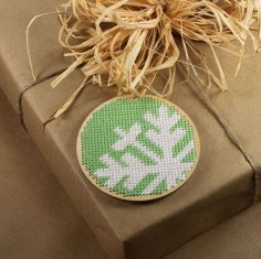 Laser Cut Cross Stitch Embroidery Kit Free Vector