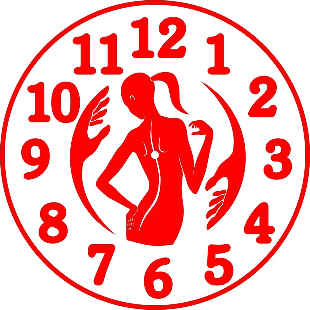 Laser Cut Massage Therapist Wall Clock PDF File