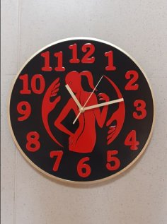 Laser Cut Massage Therapist Wall Clock PDF File