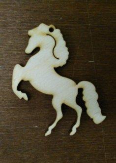 Laser Cut Wooden Decor Horse Free Vector