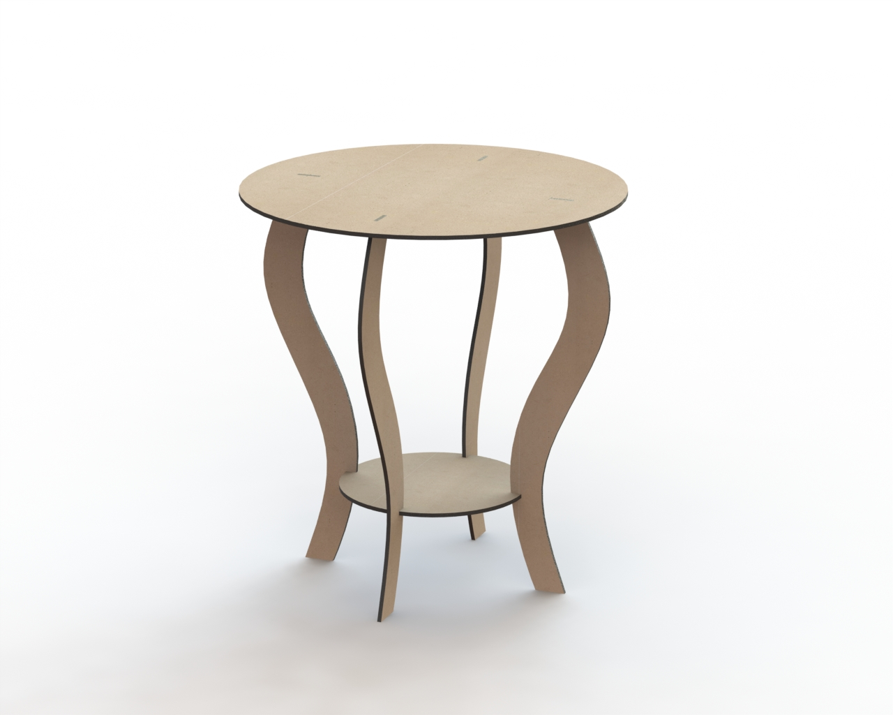 Round Table 650 Mm DXF File