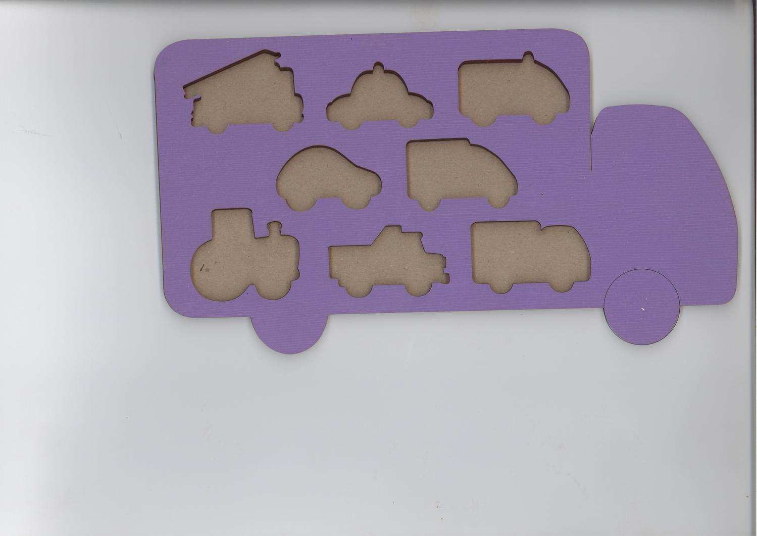 Laser Cut Vehicles Shapes Puzzle Wooden Peg Puzzles For Toddlers Free Vector