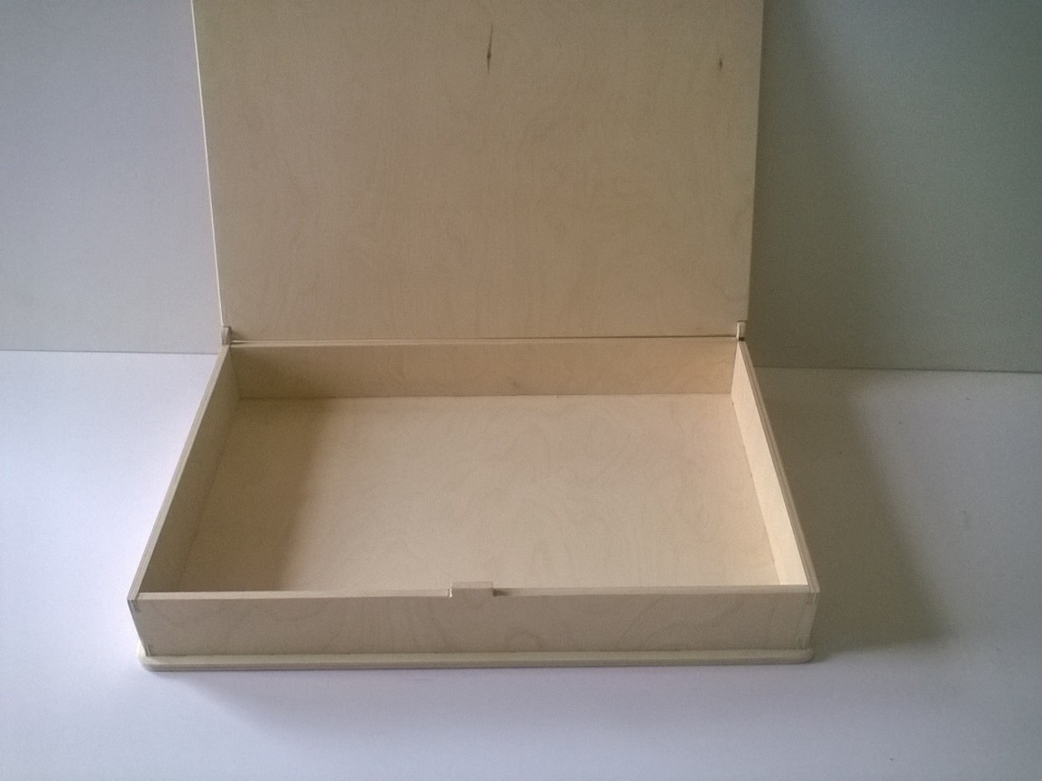 Laser Cut Wooden Box With Lid DXF File