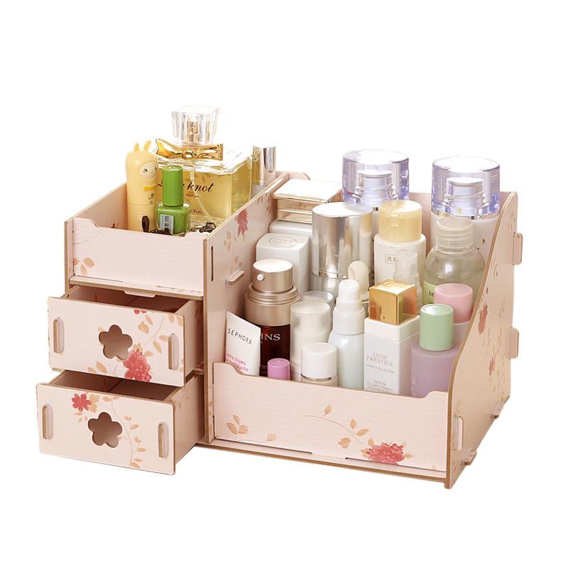 Laser Cut Makeup Organizer Box Drawer Cosmetics Storage Free Vector