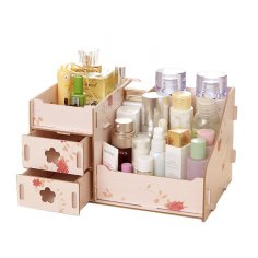 Laser Cut Makeup Organizer Box Drawer Cosmetics Storage Free Vector
