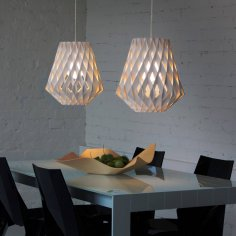 Laser Cut Wooden Pendant Lamp Shade Template Free Vector