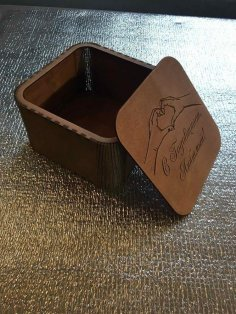 Laser Cut Decorative Gift Box With Lid Free Vector