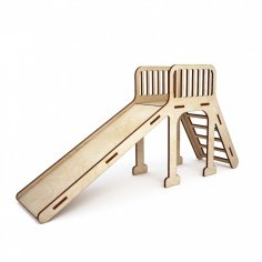 Wooden Kids Slide Toy Laser Cutter Project Free Vector